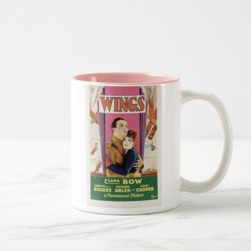 Affiche de film d'ailes de Clara Bow Mugs