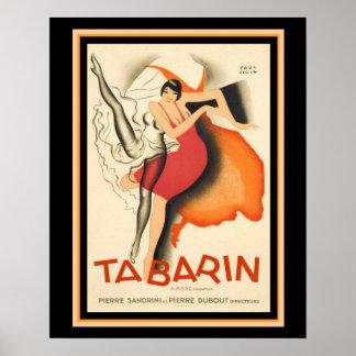 """Affiche de film vintage de """"Tabarin"""" d'art déco 16 Posters"""
