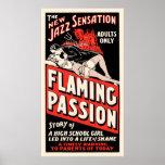 """Affiche de film vintage - """"passion flamboyante """""""