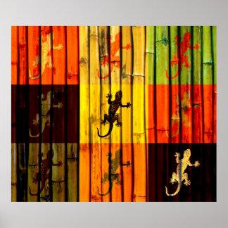 Affiche de Geckos d'art de bruit
