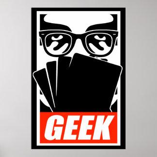 Affiche de geek