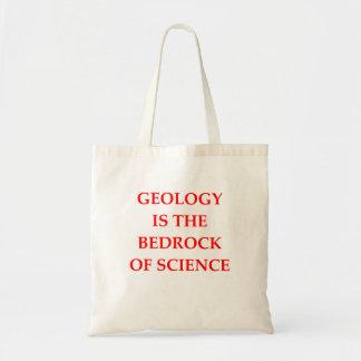 affiche de géologie sacs de toile