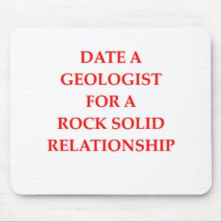 affiche de géologie tapis de souris