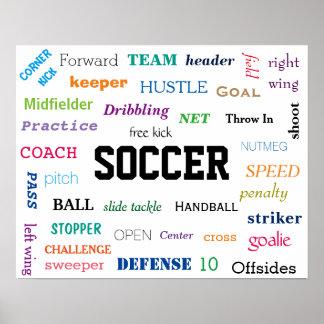 Affiche de glossaire du FOOTBALL ! De motivation !
