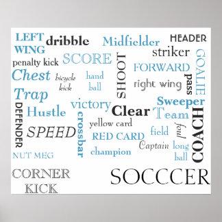 Affiche de glossaire du football