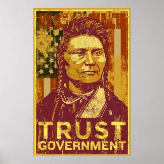 Affiche de gouvernement de confiance