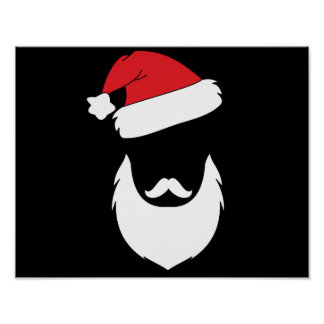 Affiche de graphique de Noël de Père Noël