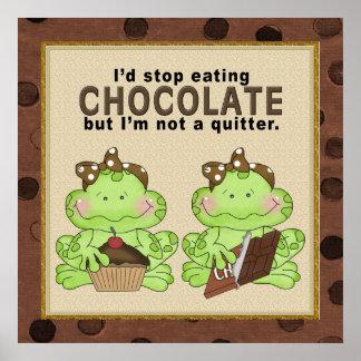 Affiche de grenouille de chocolat