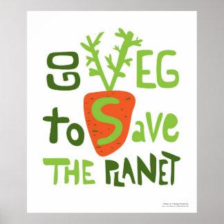 Affiche de griffonnage écrite par main végétalienn