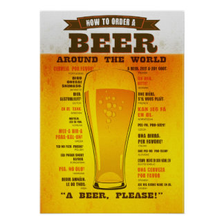 Affiche de guide d'ordre de bière poster