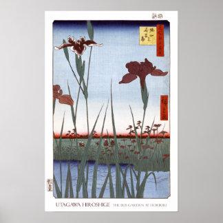 Affiche de jardin d'iris posters