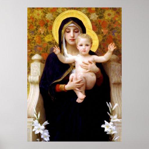 Affiche de Jésus de Mary et de bébé