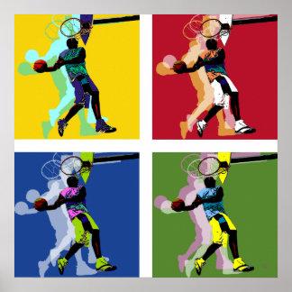 Affiche de joueur de basket posters