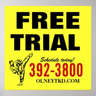 Affiche de karaté d'essai gratuit