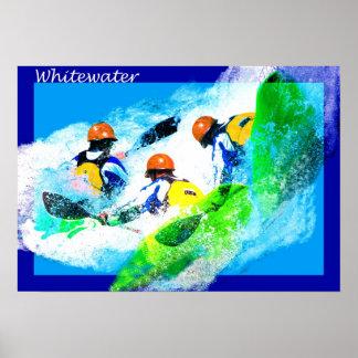 Affiche de kayak de Whitewater Posters