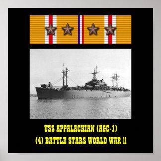 AFFICHE DE L APPALACHE D USS AGC-1