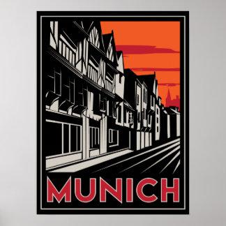affiche de l art déco oktoberfest de Munich Allema