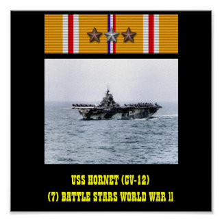 AFFICHE DE L USS HORNET CV-12