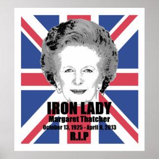 Affiche de la Dame de fer de Margaret Thatcher R.I