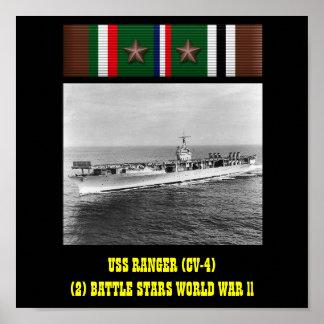 AFFICHE DE LA GARDE FORESTIÈRE D'USS (CV-4)