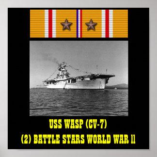 AFFICHE DE LA GUÊPE D USS CV-7