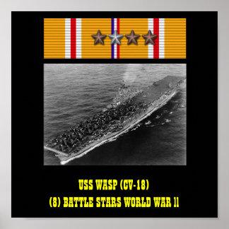 AFFICHE DE LA GUÊPE D'USS (CV-18)