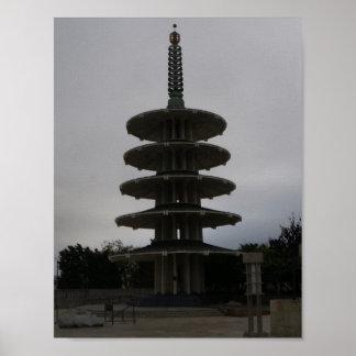 Affiche de la pagoda #2 de paix de San Francisco Poster