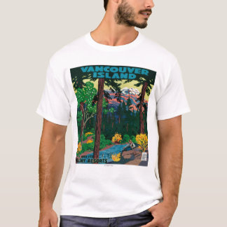 Affiche de la publicité d'île de Vancouver T-shirt