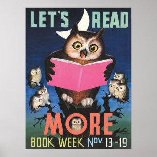 Affiche de la semaine du livre de 1955 enfants poster