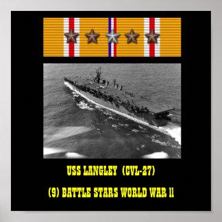AFFICHE DE LANGLEY D USS CVL-27