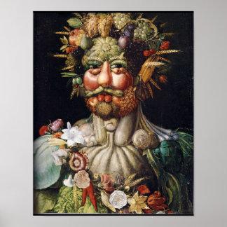 Affiche de Légume-Man de Giuseppe Arcimboldo