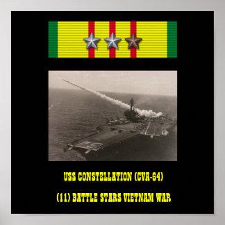 AFFICHE DE L'USS CONSTELLATION (CVA-64)