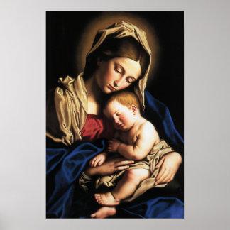 Affiche de Madonna et d'enfant