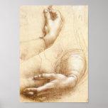 Affiche de mains de da Vinci