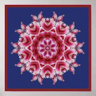 Affiche de mandala des couleurs de mon Heartsong