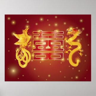 Affiche de mariage de Phoenix de dragon
