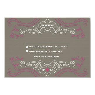 Affiche de mariage de rock (étain/rose) RSVP Carton D'invitation 8,89 Cm X 12,70 Cm