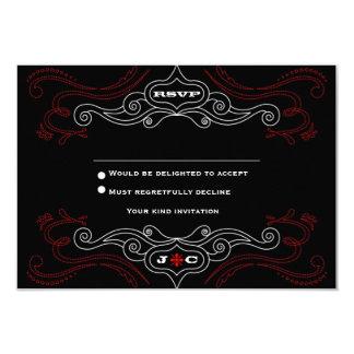 Affiche de mariage de rock (noire/rouge) RSVP Carton D'invitation 8,89 Cm X 12,70 Cm
