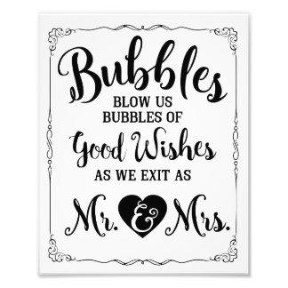 Affiche de mariage de signe de bulle de mariage impression photo
