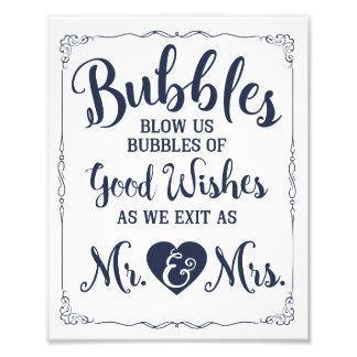 Affiche de mariage de signe de bulle de mariage impressions photo