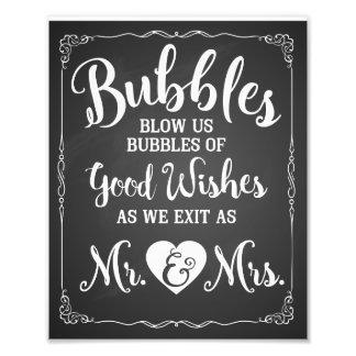 Affiche de mariage de signe de bulle de mariage photo sur toile