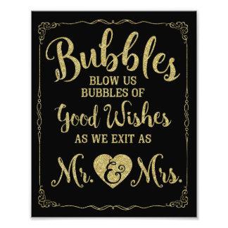 Affiche de mariage de signe de bulle de mariage, photographies d'art