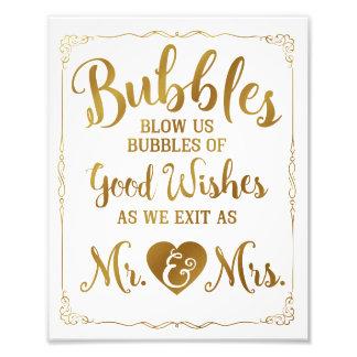 Affiche de mariage de signe de bulle de mariage, photos d'art