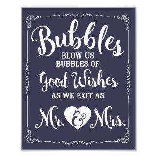 Affiche de mariage de signe de bulle de mariage photos sur toile