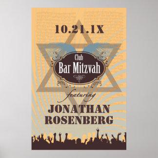 Affiche de Mitzvah de barre de club