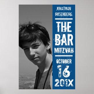 Affiche de Mitzvah de barre de groupe de rock dans