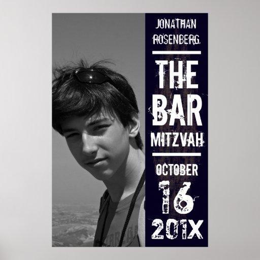 Affiche de Mitzvah de barre de groupe de rock