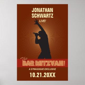 Affiche de Mitzvah de barre de vedette du rock