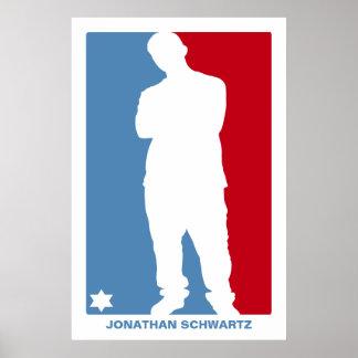 Affiche de Mitzvah de barre d'étoile de sports