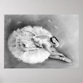 Affiche de mort de cygne de ballerine